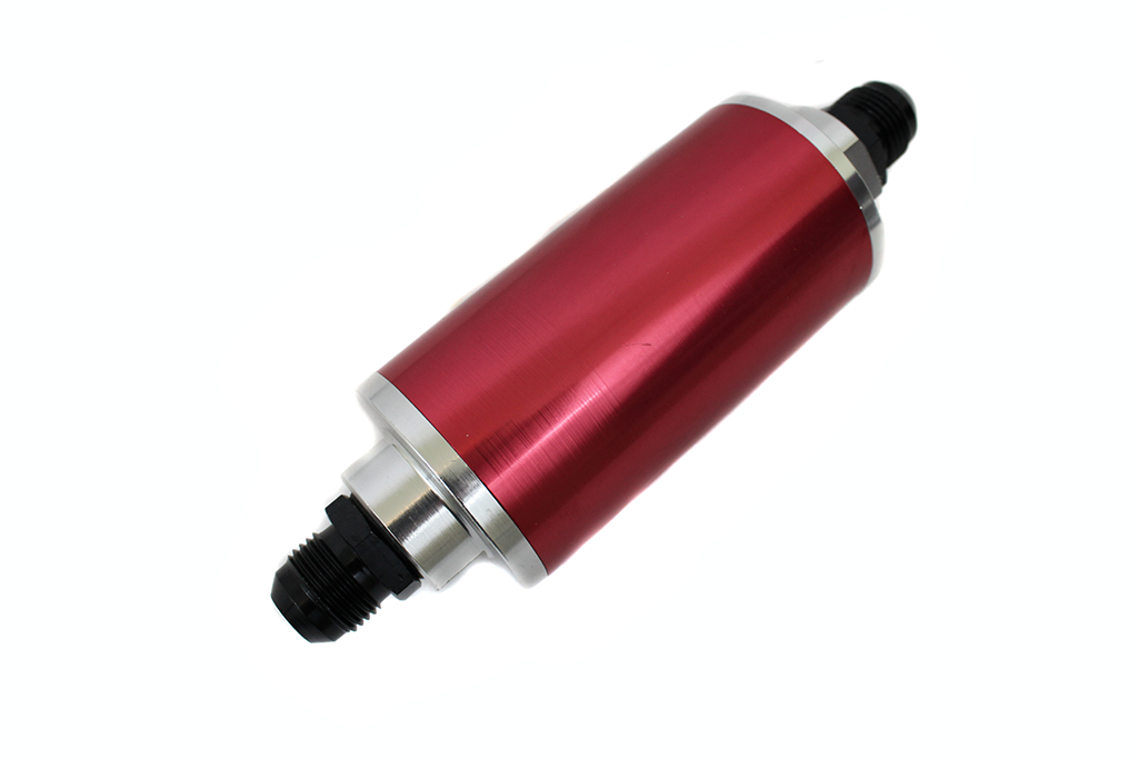 Inline Red Aluminum 10 An Fitting With 30 Micron Fuel