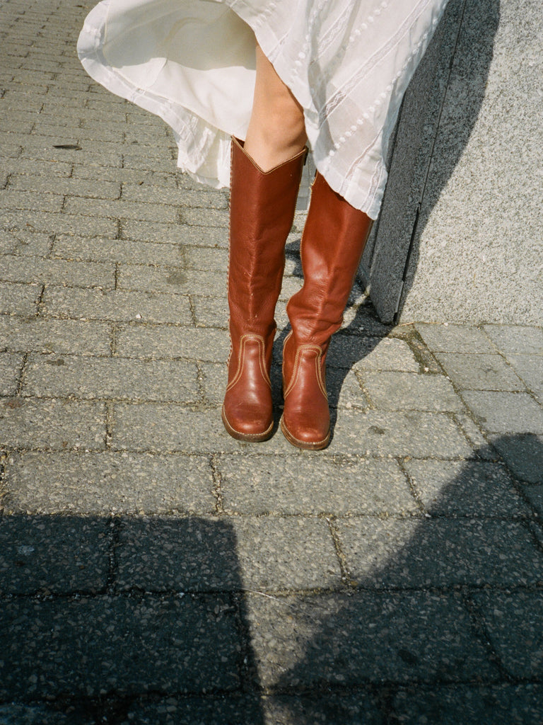 70s Terracotta Campus Boots