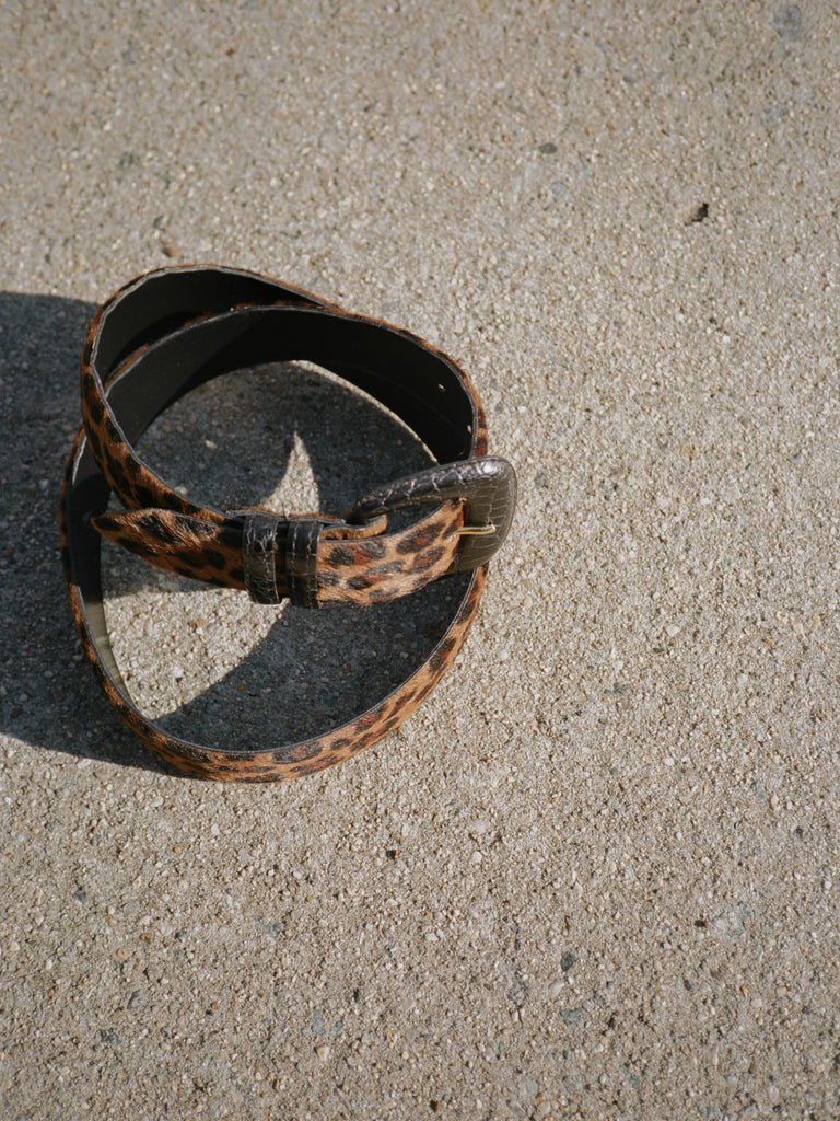 Pony Hair Cheetah Print Belt