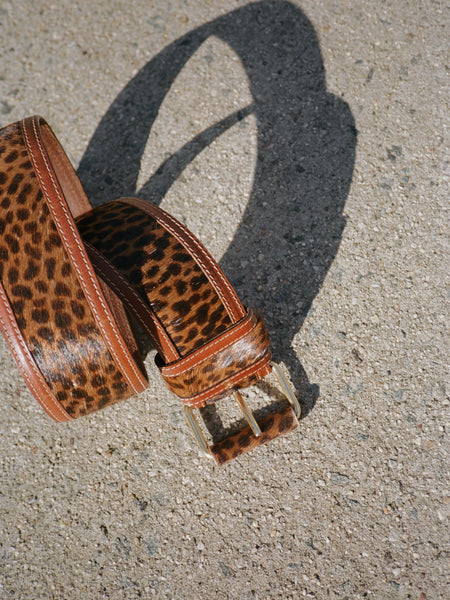 Wide Animal Print Belt