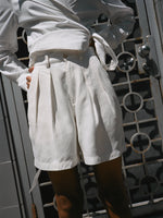 White Silk Shorts