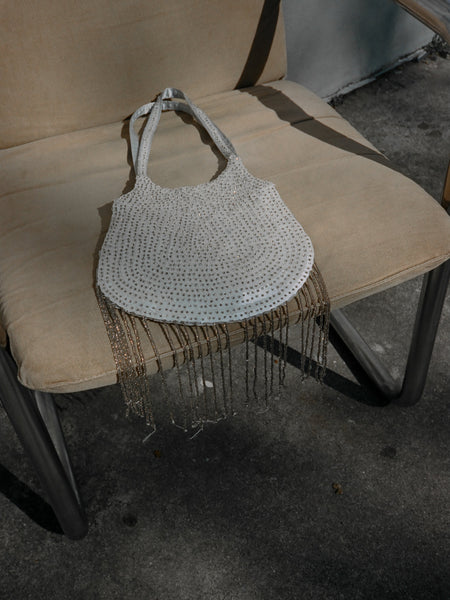 Fringed Beaded Purse