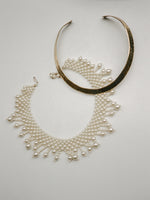 Narrow Brass Collar Necklace