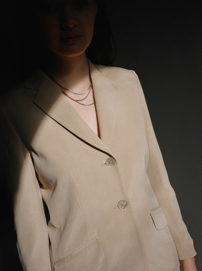 Blush Silk Suit