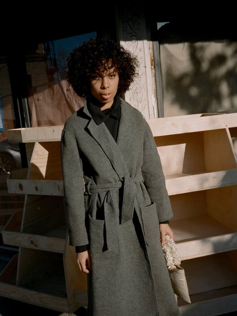 Calvin Klein Felted Wool Trench