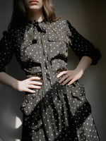 Polka Dot Silk Shirtdress
