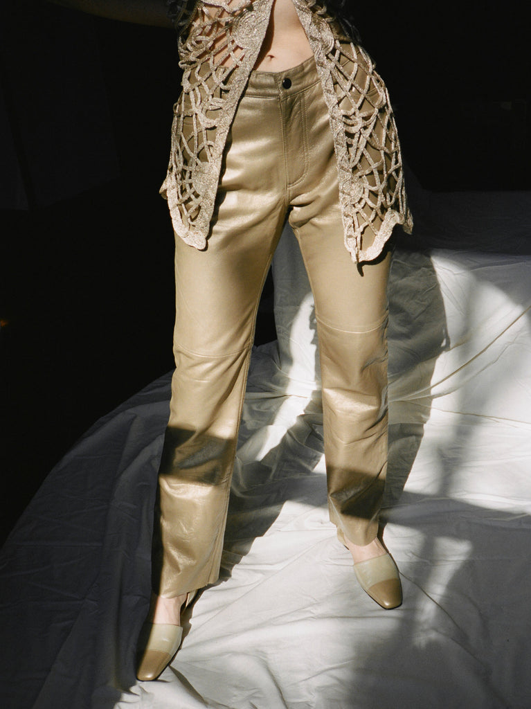 Bronze Leather Pants