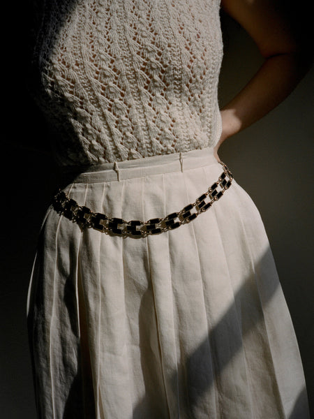 Enamel Chain Belt