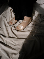 Pearl Leather Sandals (41)