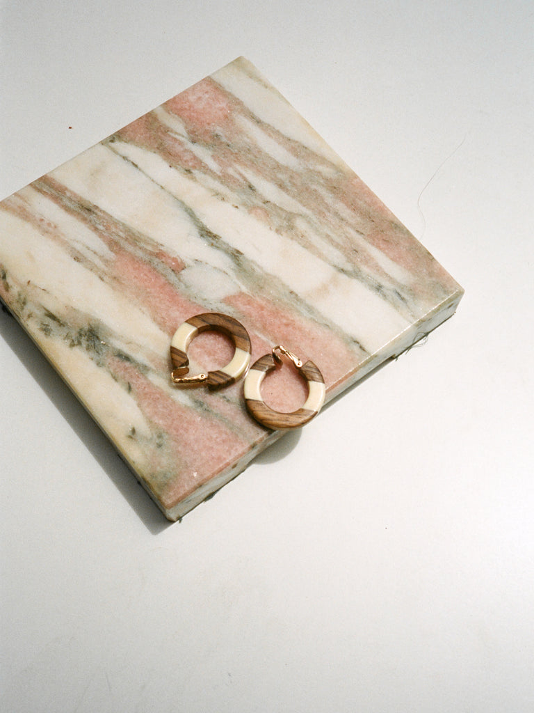 Wood Stripe Hoops