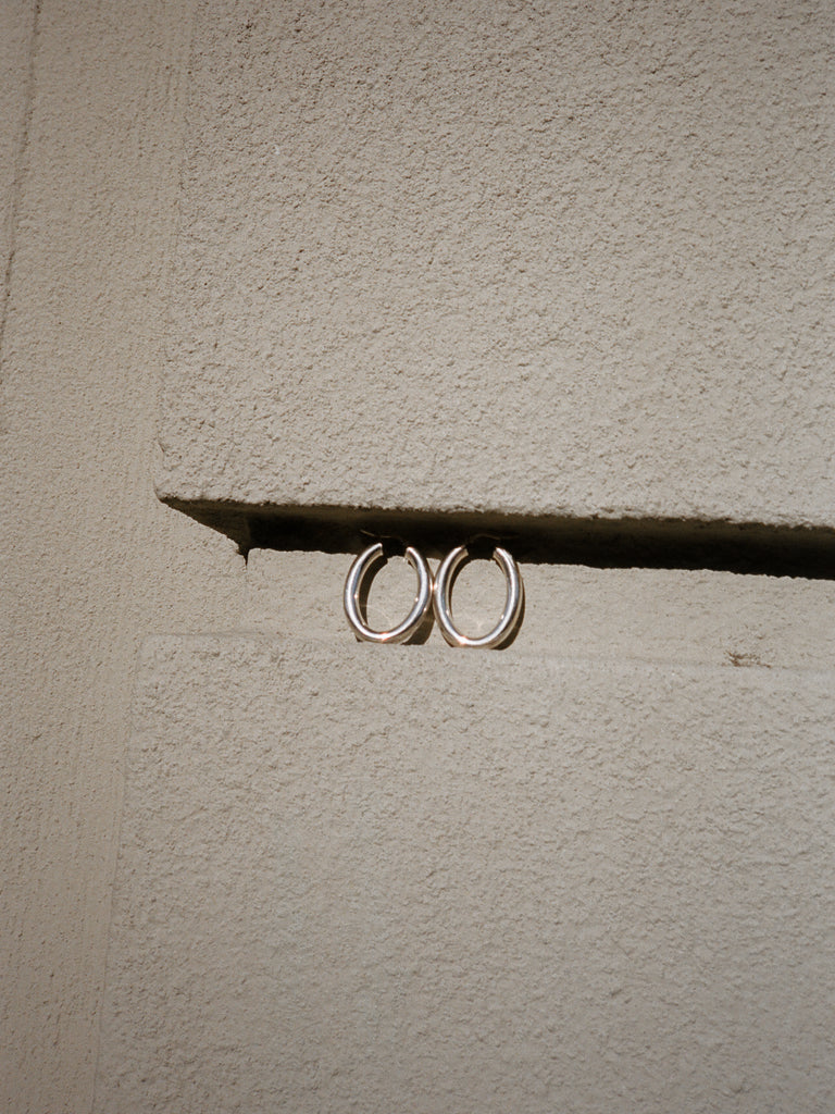 Oval Sterling Hoops