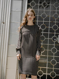 Bill Blass Vertical Stripe Dress