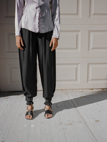 Pleated Parachute Pants