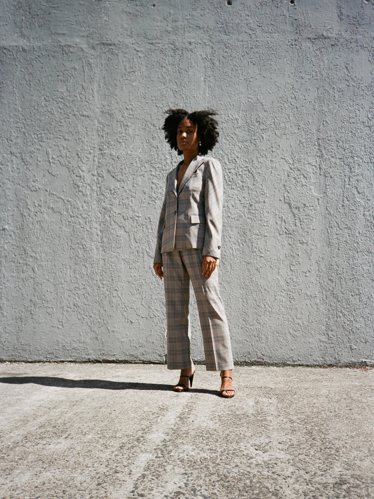 Féraud Grey Check Suit