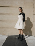 Bone Leather Skater Dress