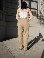 Khaki Wool Trousers