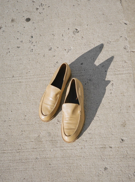 Ochre Leather Loafers (38.5)