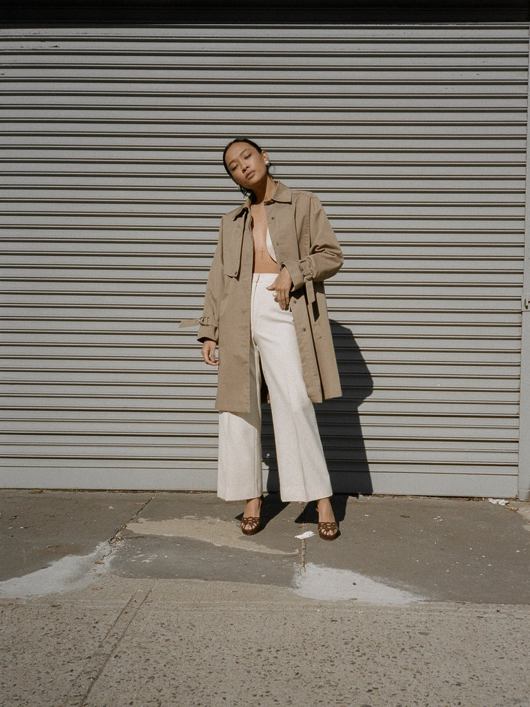 Snap Front Khaki Trench
