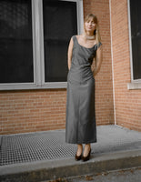 Prada Pewter Silk Dress