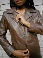 Coach Chocolate Leather Jacket