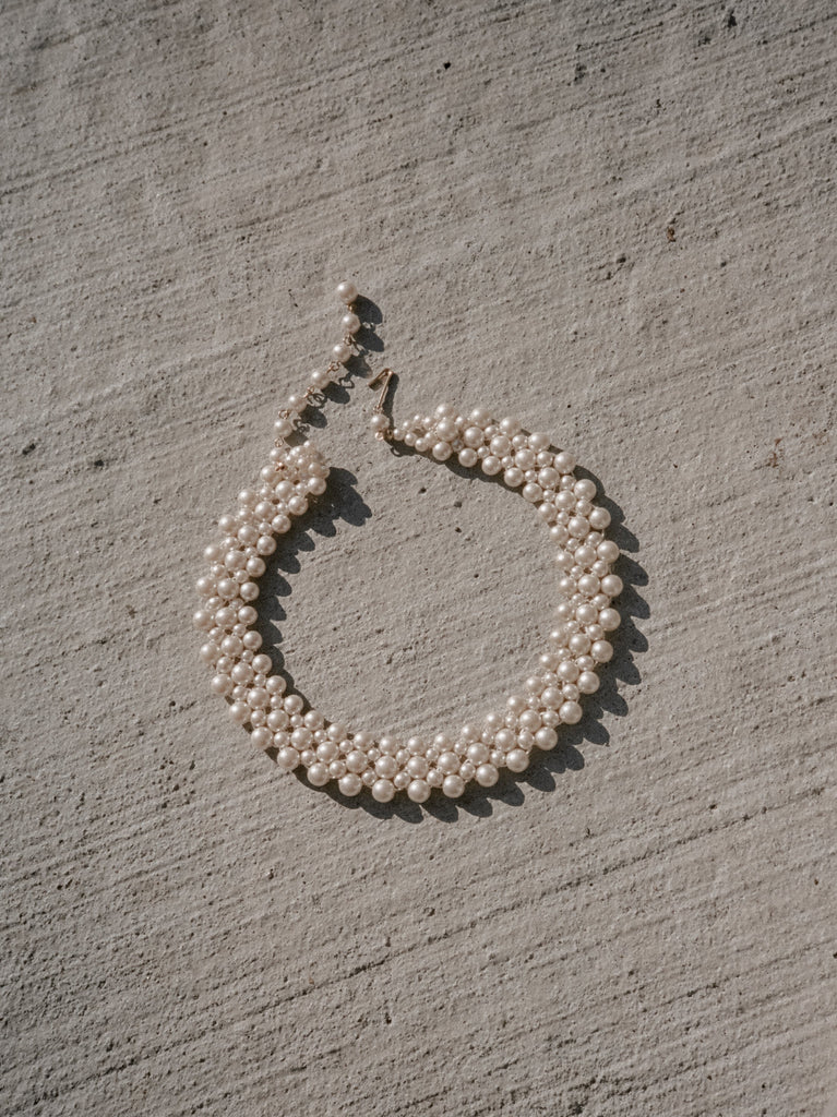 Faux Pearl Collar