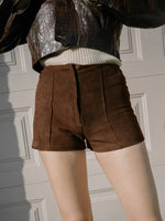 Rust Suede Hot Pants