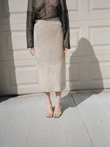 Cocoa Suede Skirt