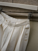 Calvin Klein Pleated Linen Skirt