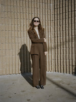 Chocolate Silk Suit