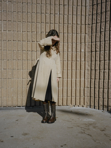 70s Hooded Trench