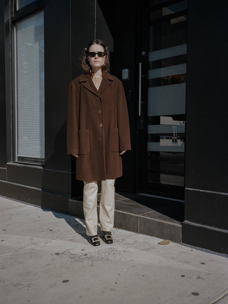 Cocoa Wool Car Coat