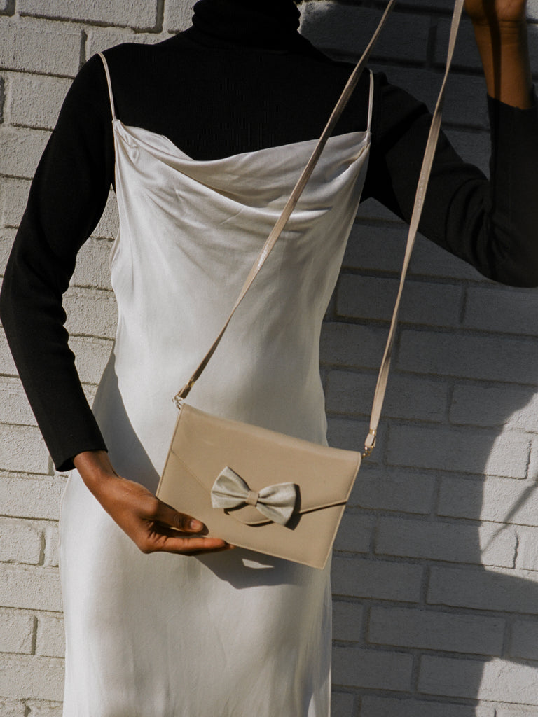 Taupe Bow Bag