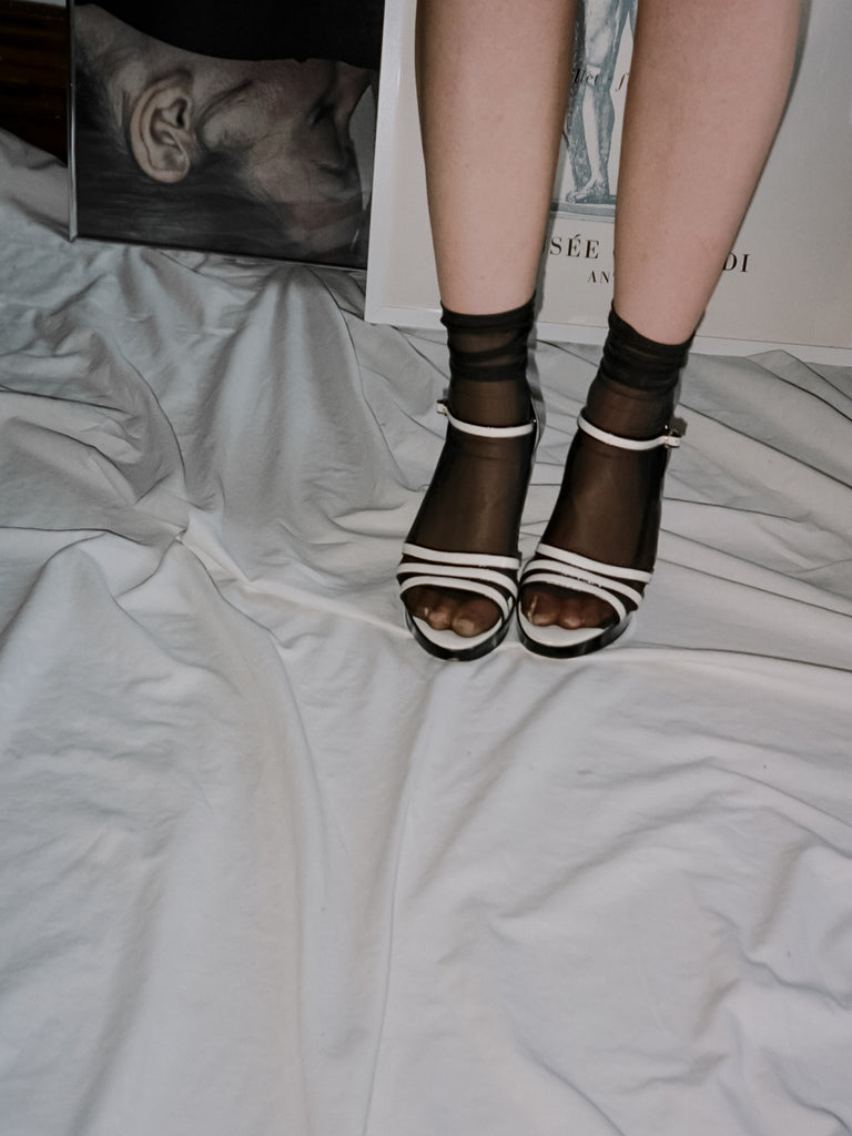 White Patent Platforms