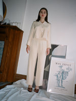 Winter White Silk Suit