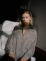 Jaeger Gingham Silk Shirt