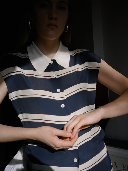 Byblos Blue Stripe Top