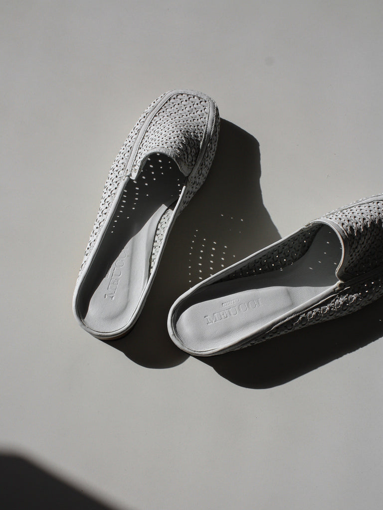 Perforated Slide Loafers (7.5)