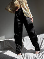 Black Satin Jodhpur Pants