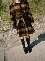 Mohair Check Coat