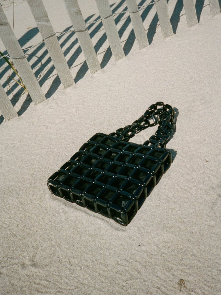 Beaded Black Handbag