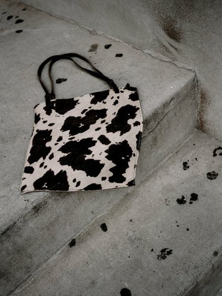 Pony Hair Cow Print Tote