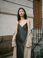 Polka Dot Satin Slip Dress