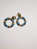 Oversized Blue Enamel Hoops
