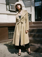 Halston Ultrasuede Trench