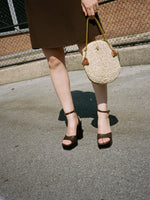 Chocolate Ankle Strap Platforms