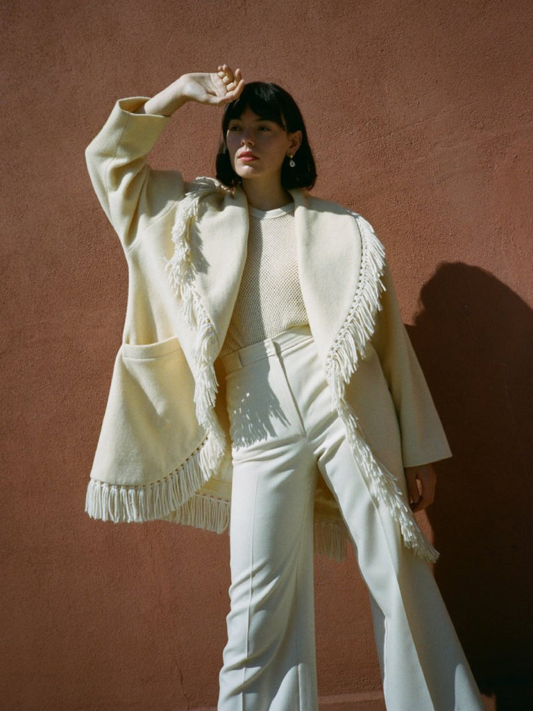 Fringed Cream Coat