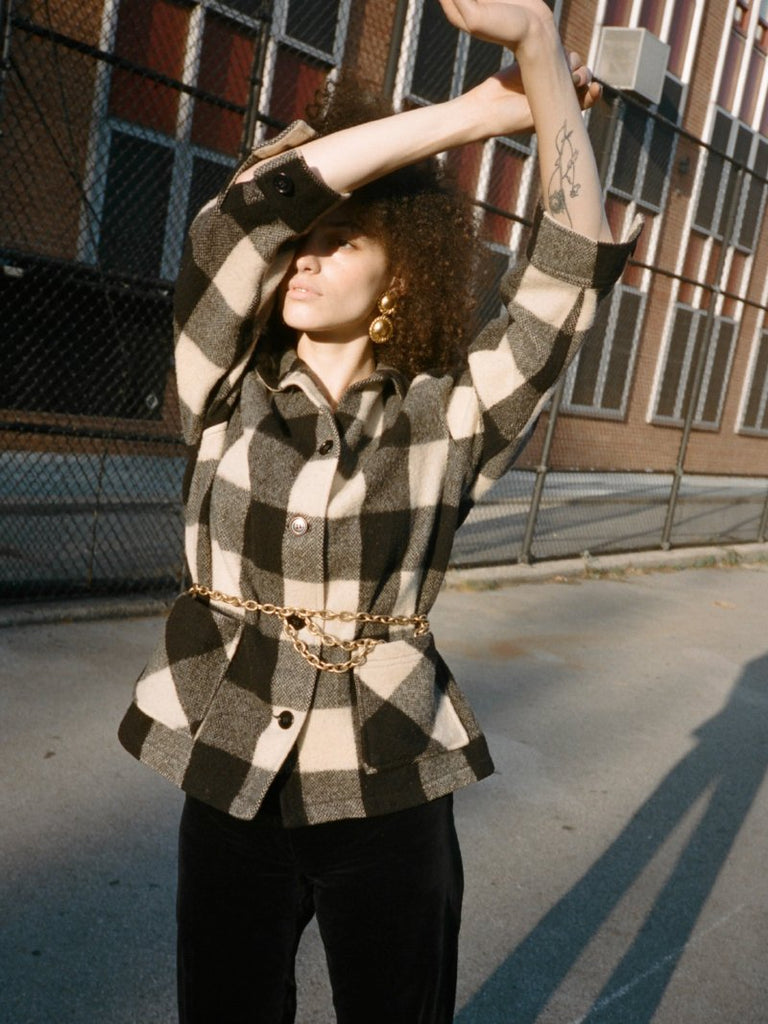 Buffalo Check Wool Jacket