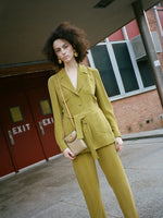 Belted Silk Suit