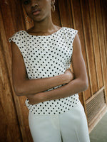 Polka Dot Silk Shell