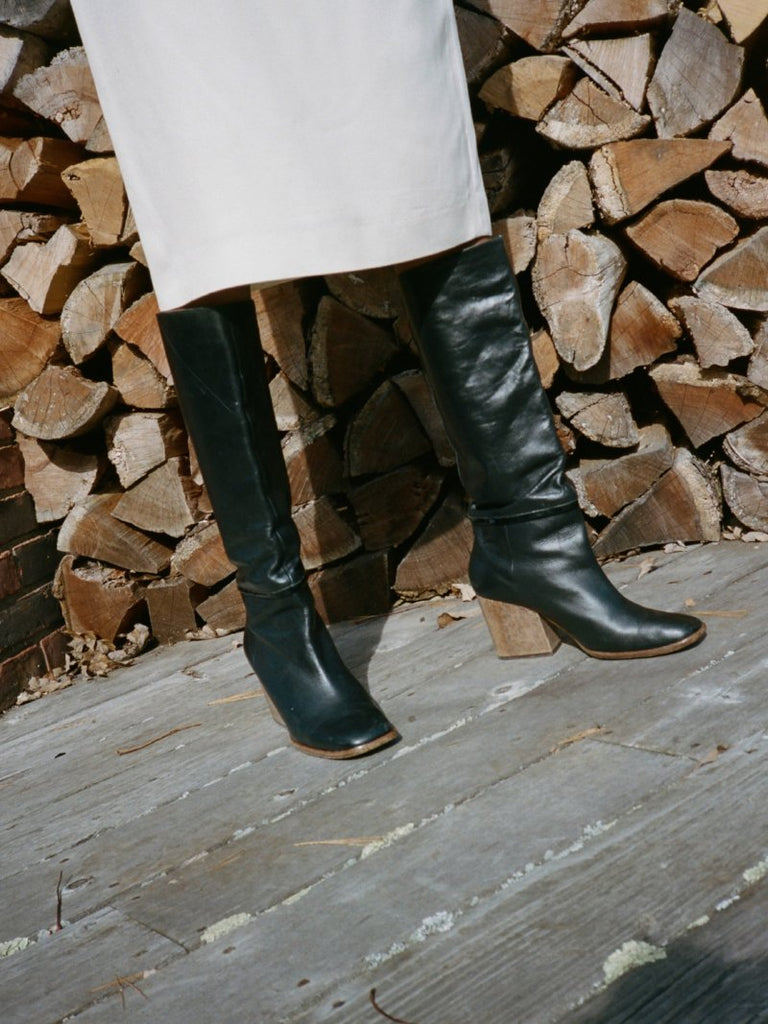 Robert Clergerie Wood Heel Boots